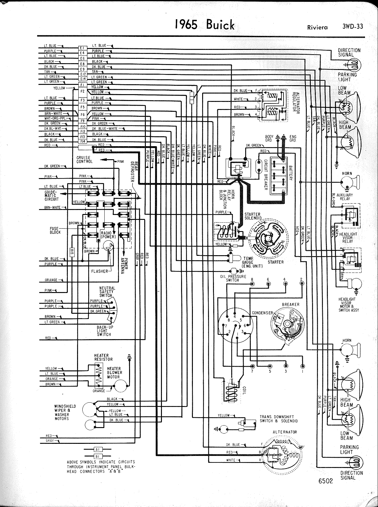 hight resolution of buick wiring diagrams 1957 1965 wiring diagrams 1965 buick wildcat 1965 riviera right half 64 buick