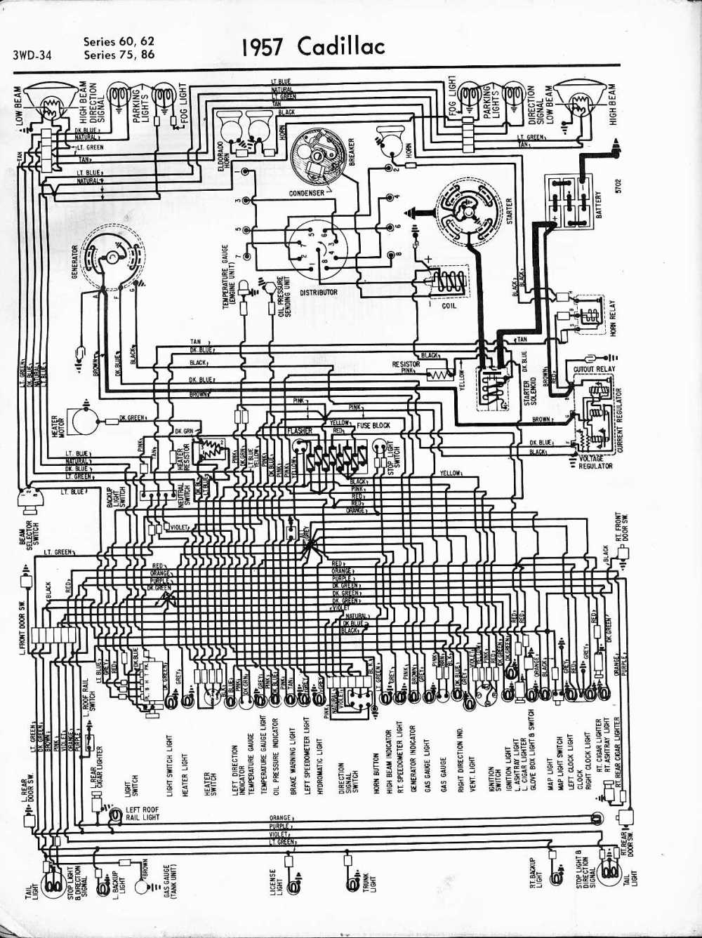 medium resolution of cadillac wiring diagrams 1957 1965 1956 opel wiring diagram 1956 cadillac wiring diagram