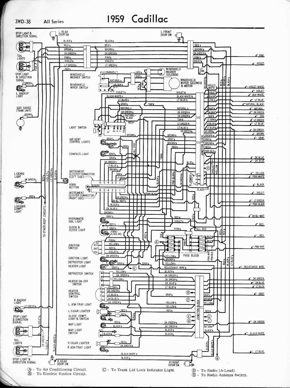 medium resolution of cadillac wiring diagrams 1957 1965 rh oldcarmanualproject com 1994 cadillac deville wiring diagram 1998 cadillac