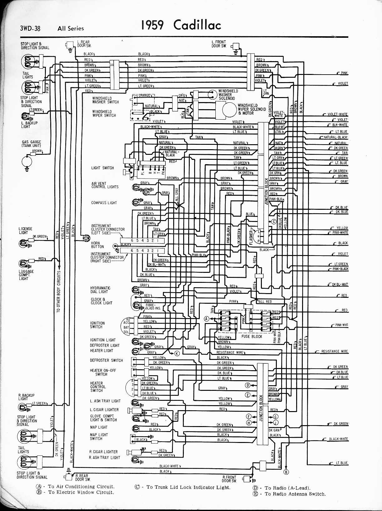 hight resolution of cadillac wiring diagrams 1957 1965 rh oldcarmanualproject com 1994 cadillac deville wiring diagram 1998 cadillac