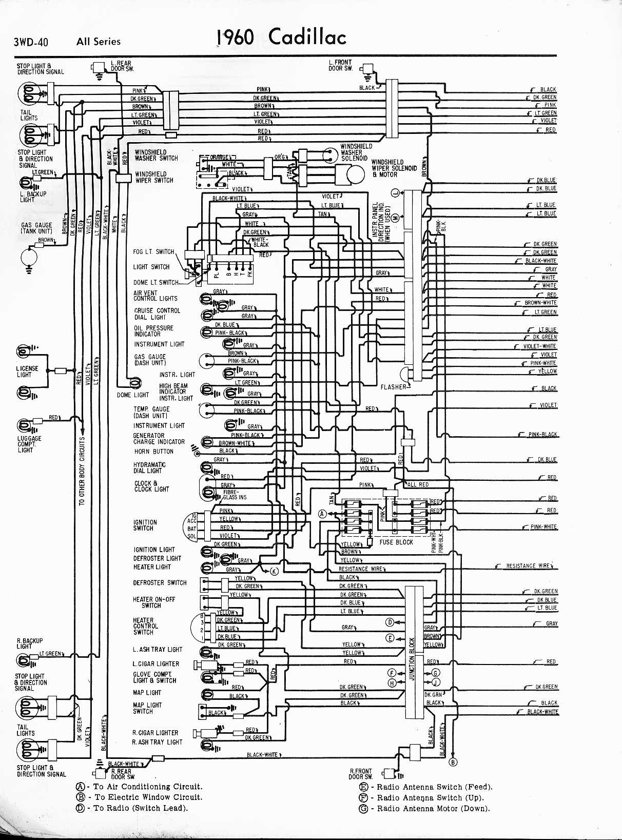 hight resolution of cadillac wiring diagrams 1957 1965 1960 cadillac radio wiring diagram schematic