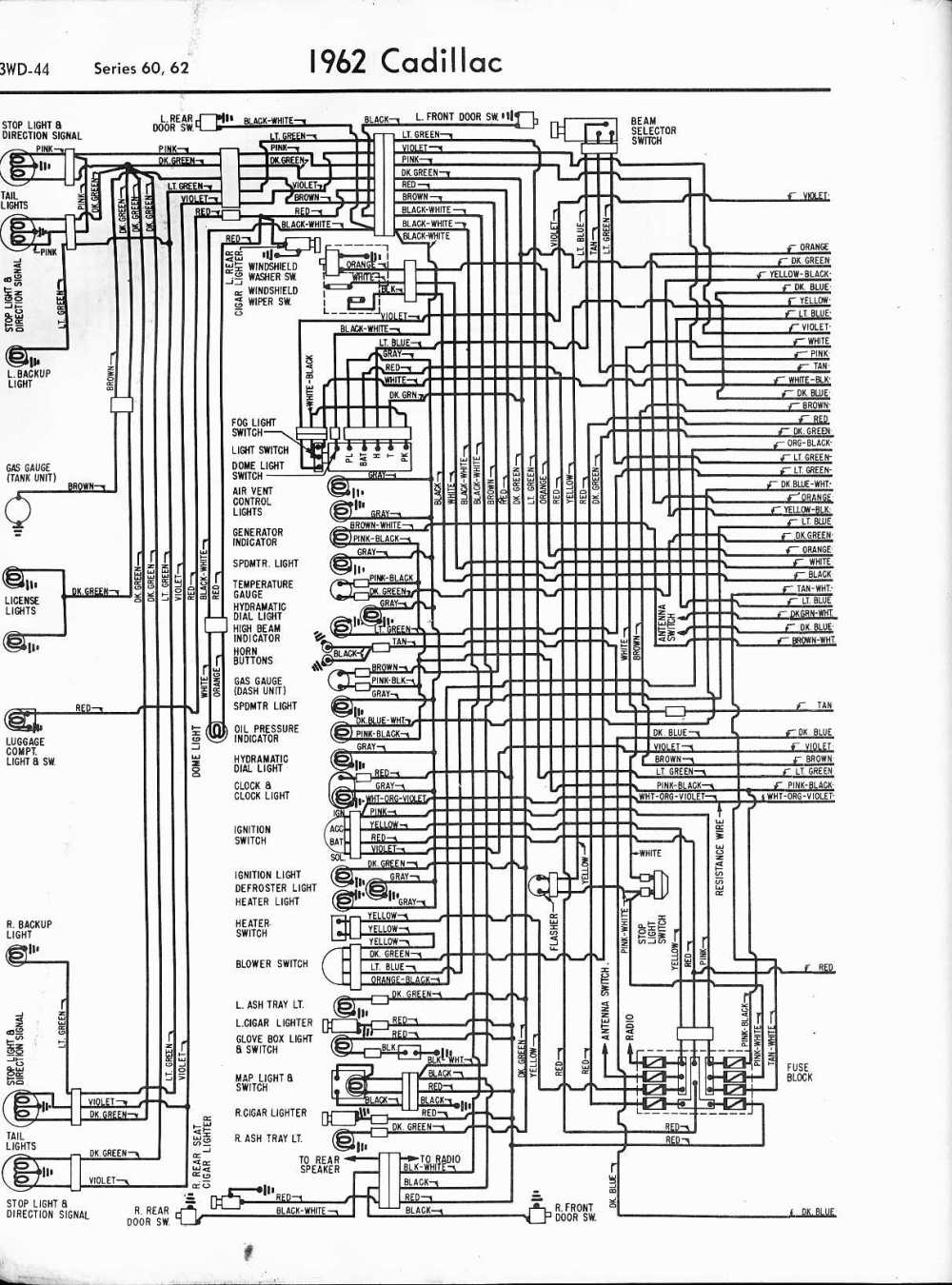 medium resolution of cadillac wiring diagrams 1957 1965 rh oldcarmanualproject com wiring schematics for a 2000 cadillac escalade wiring