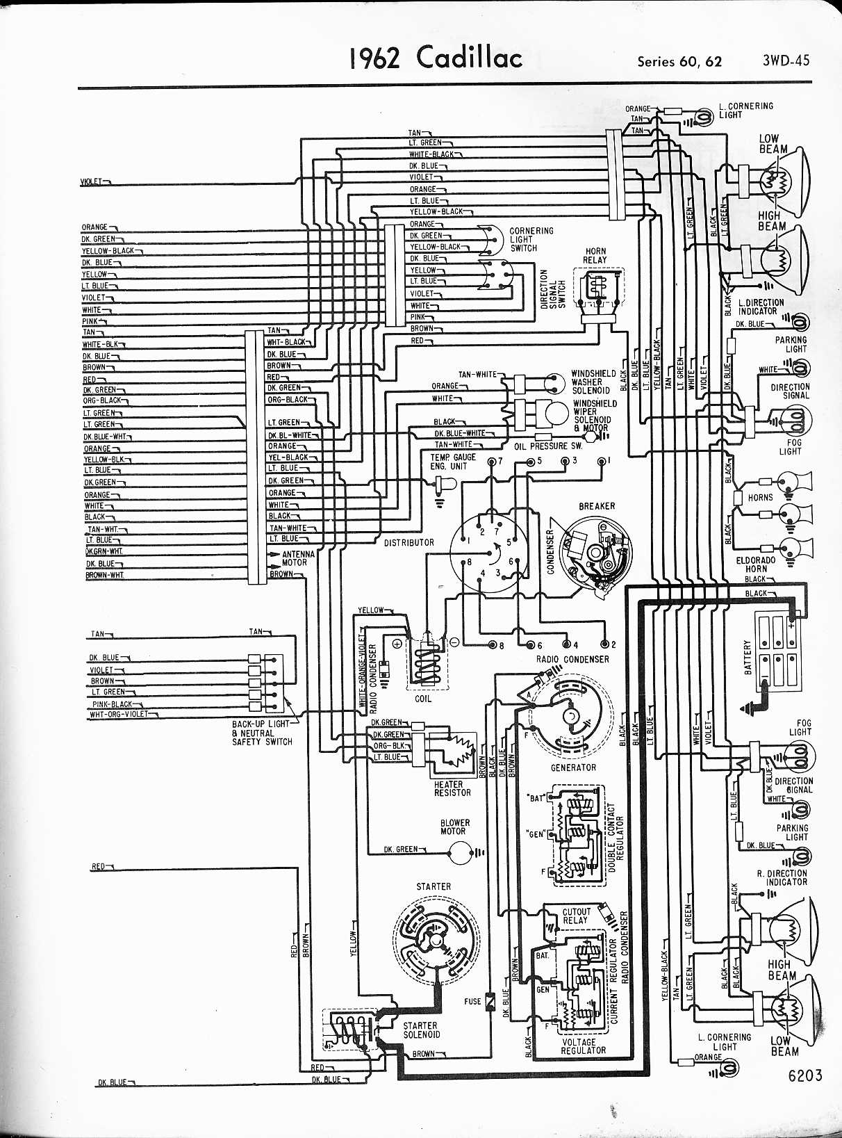 1965 Chevy Headlight Switch Wiring Diagram Cadillac Wiring Diagrams 1957 1965