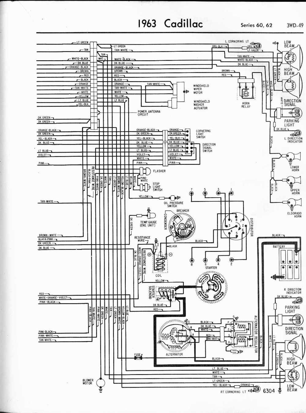 medium resolution of cadillac wiring diagrams 1957 1965 1963 cadillac wiring harness