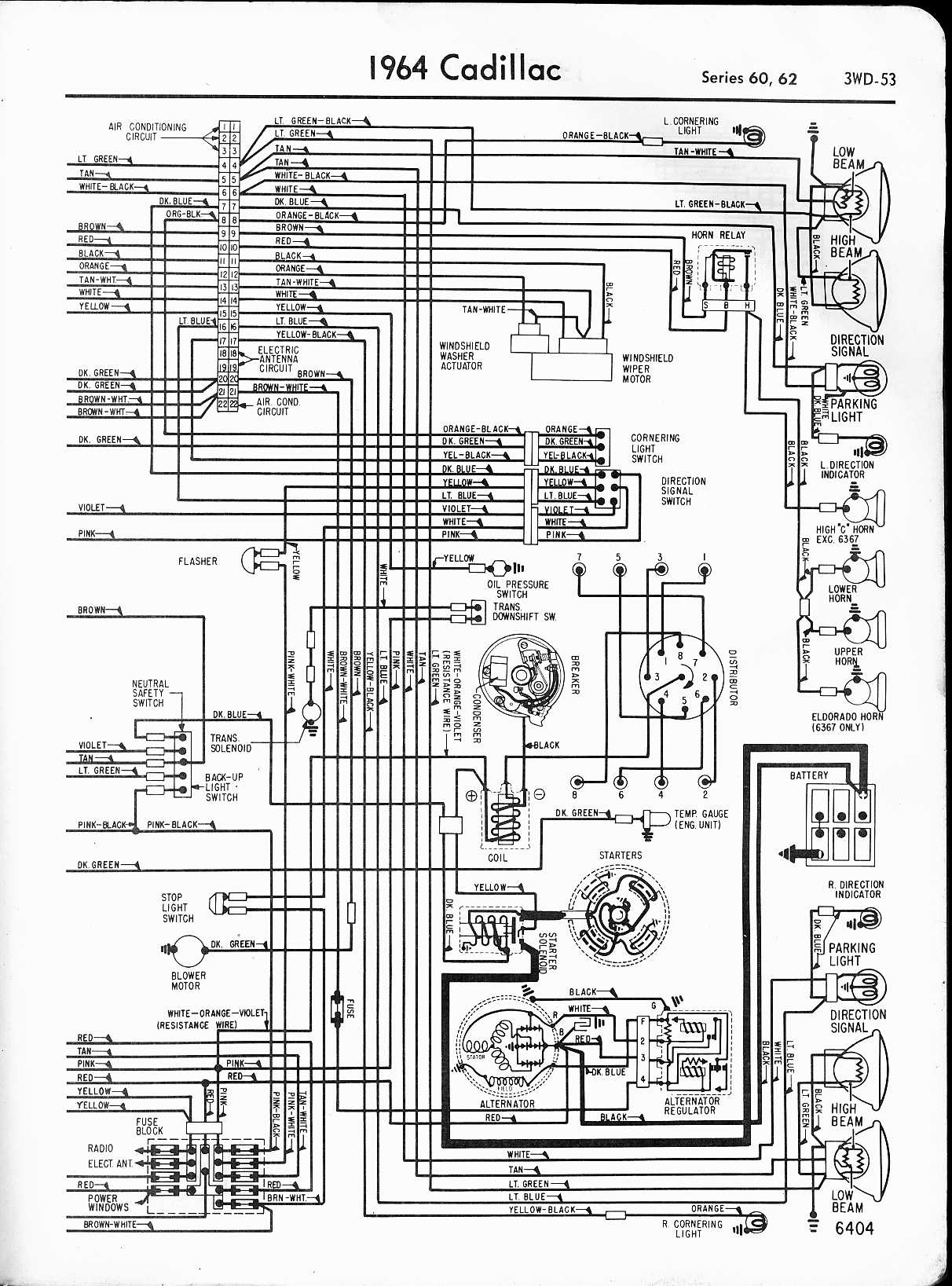 hight resolution of cadillac wiring diagrams 1957 1965 rh oldcarmanualproject com 1994 cadillac deville wiring diagram 1998 cadillac deville wiring diagram