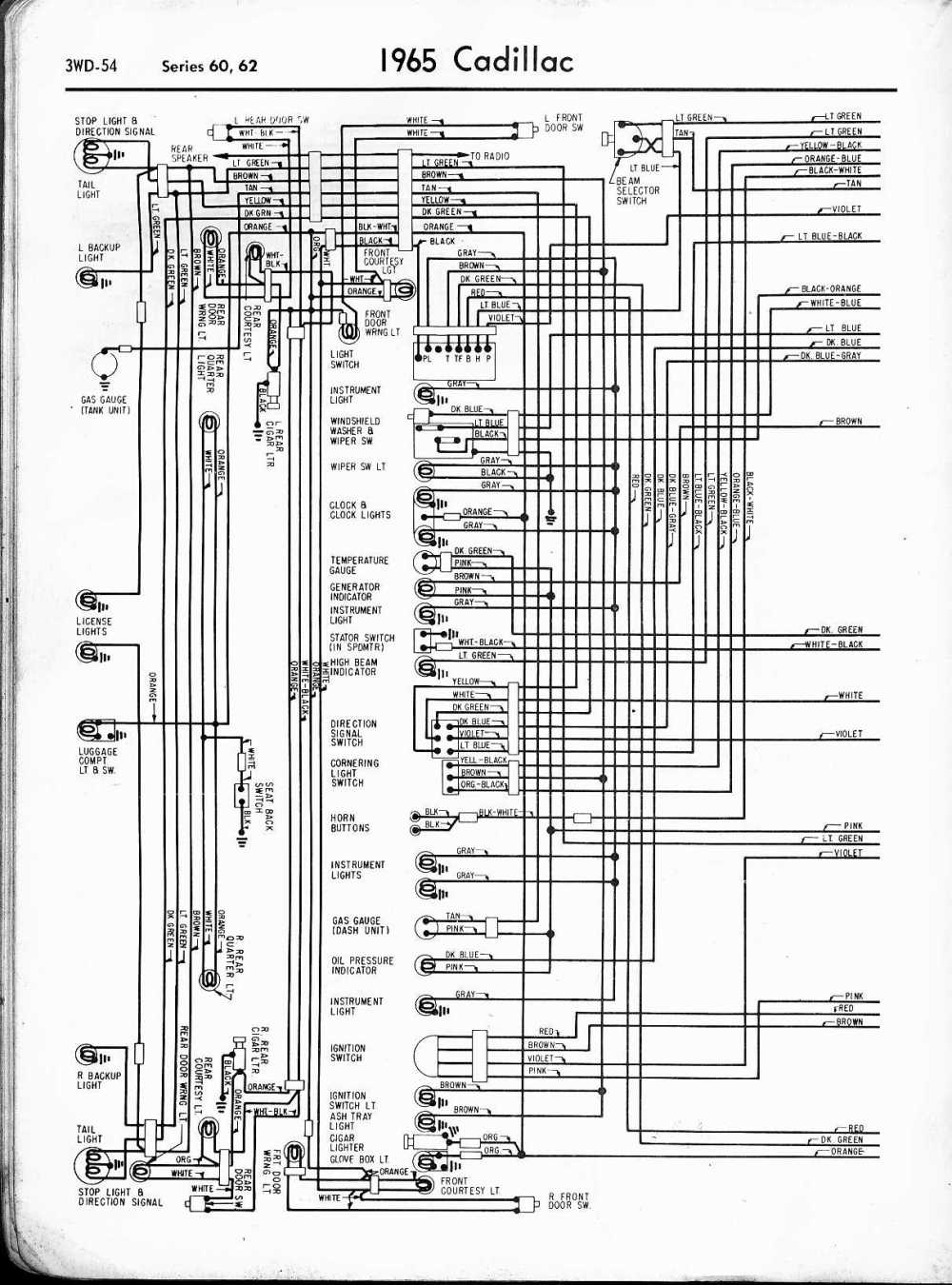 medium resolution of cadillac wiring diagrams 1957 1965 1963 cadillac spark plug wire diagram