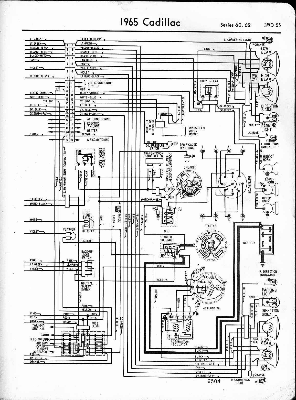 hight resolution of cadillac wiring diagrams 1957 1965 rh oldcarmanualproject com chrysler eagle vision engine wiring diagram chrysler electronic