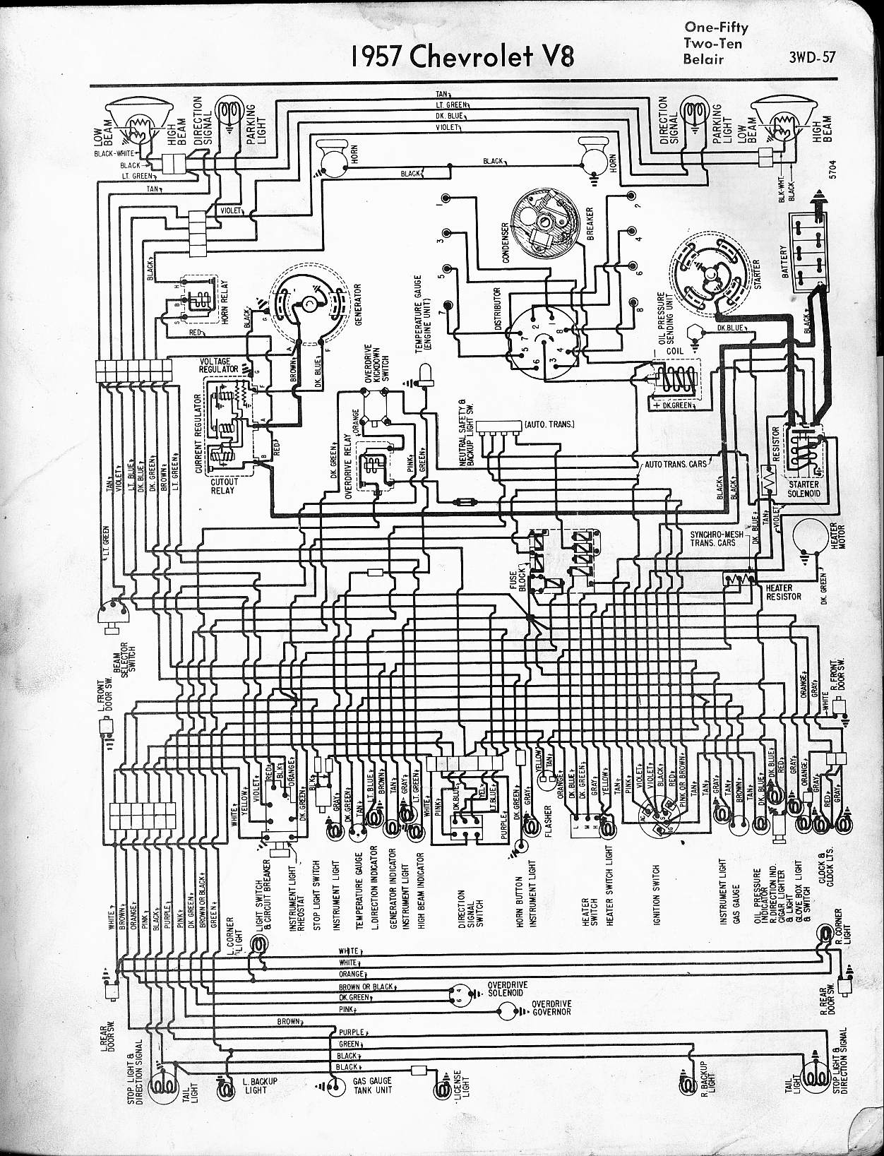 hight resolution of 57 65 chevy wiring diagrams rh oldcarmanualproject com 1957 bel air ignition switch wiring diagram 1957