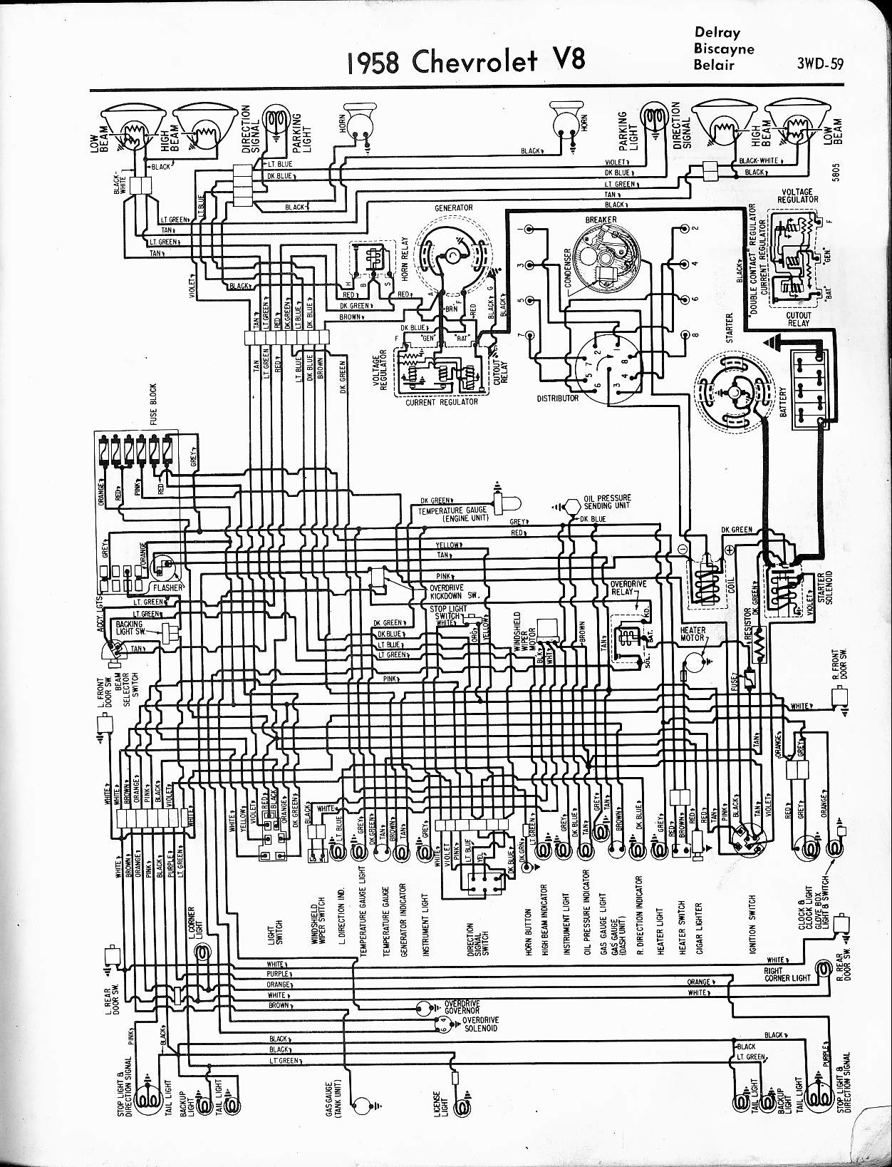 hight resolution of 57 65 chevy wiring diagrams 1959 impala wiring diagram 1958 v8 delray biscayne belair