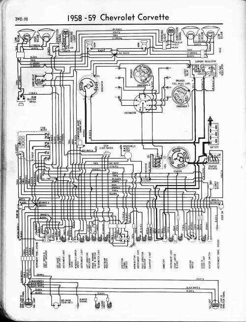 small resolution of 1958 corvette 57 65 chevy wiring diagrams