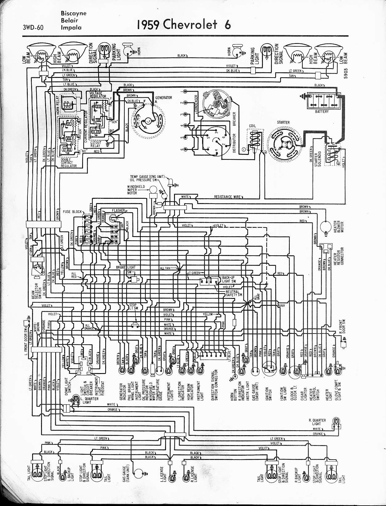 1963 impala wiring diagram 7 pin plug australia 57 - 65 chevy diagrams