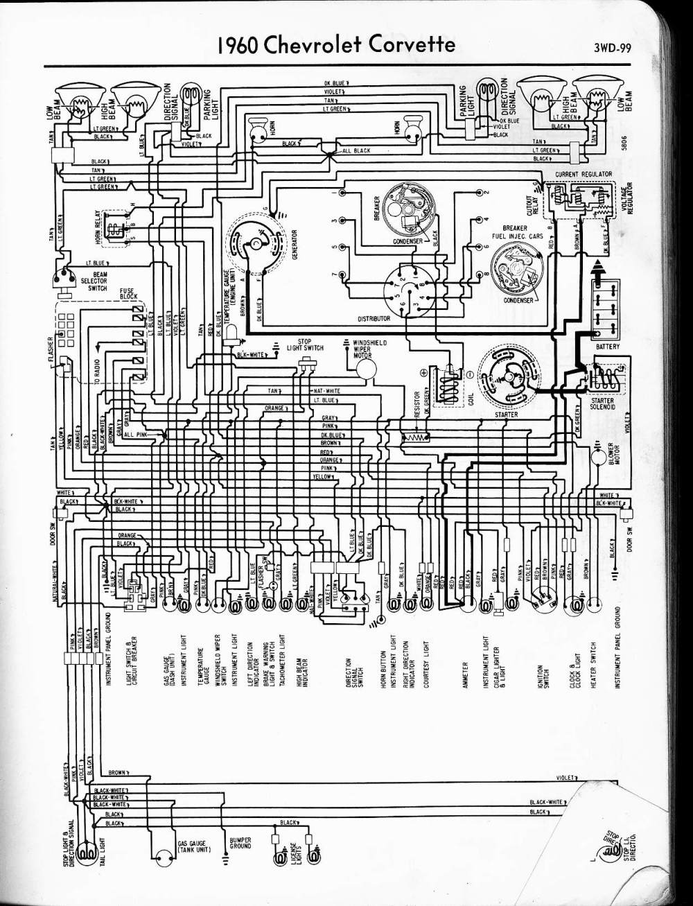 medium resolution of 1960 corvette wiring diagram