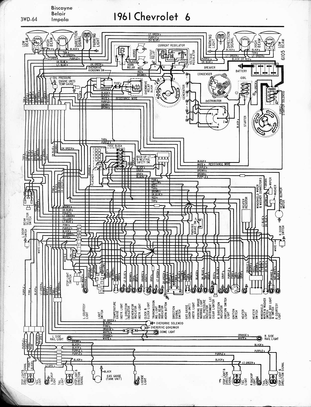 hight resolution of 57 65 chevy wiring diagrams rh oldcarmanualproject com 1962 chevrolet impala wiring diagram 1960 ford thunderbird