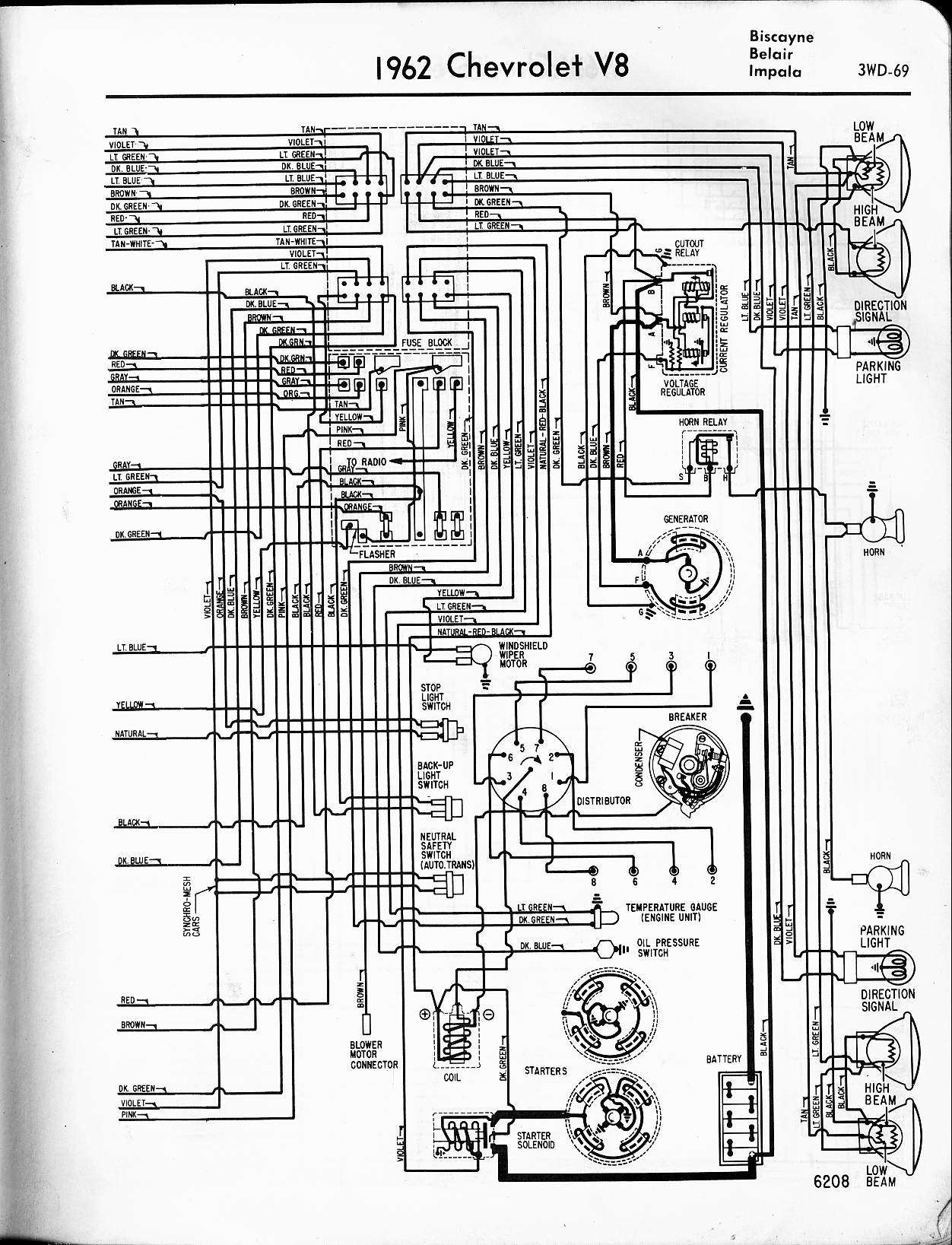 engine wiring diagrams clarion cmd4 diagram 57 65 chevy 1962 v8 biscayne belair impala right
