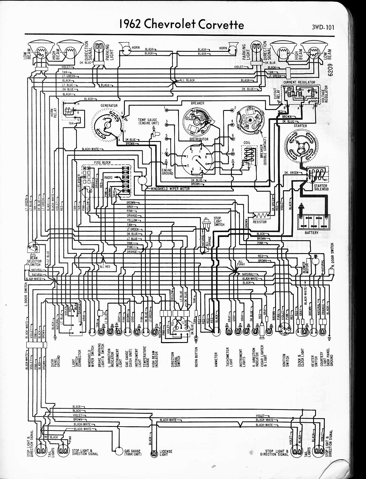 hight resolution of 1962 corvette 57 65 chevy wiring diagrams