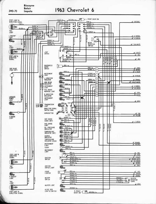 small resolution of 57 65 chevy wiring diagrams rh oldcarmanualproject com 1964 chevy impala wiring diagram 63 impala turn