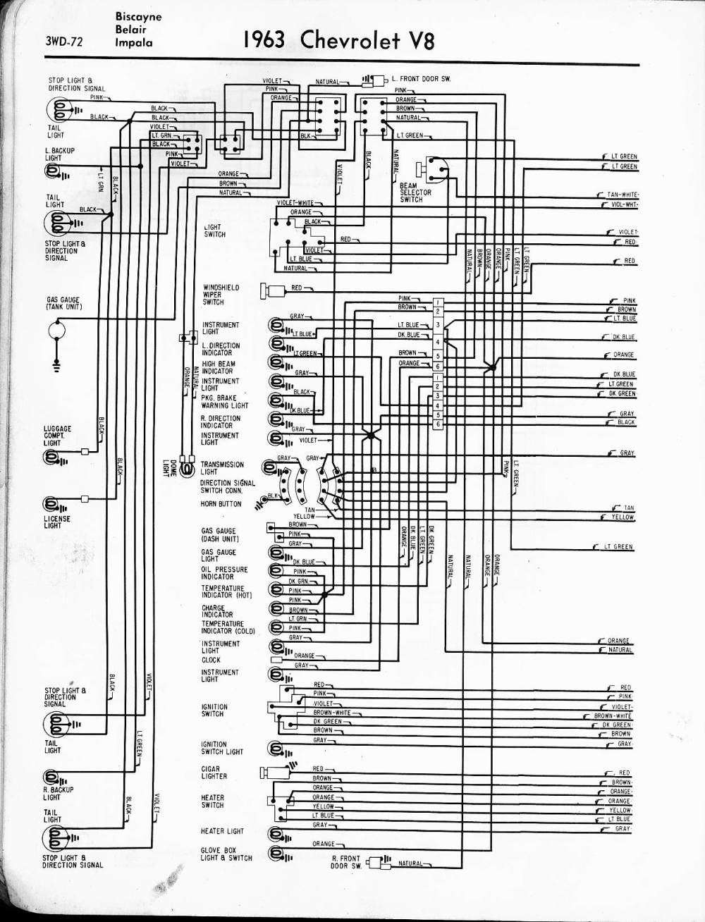 medium resolution of 1962 chevy wiring diagram manual reprint impala ss bel air biscayne