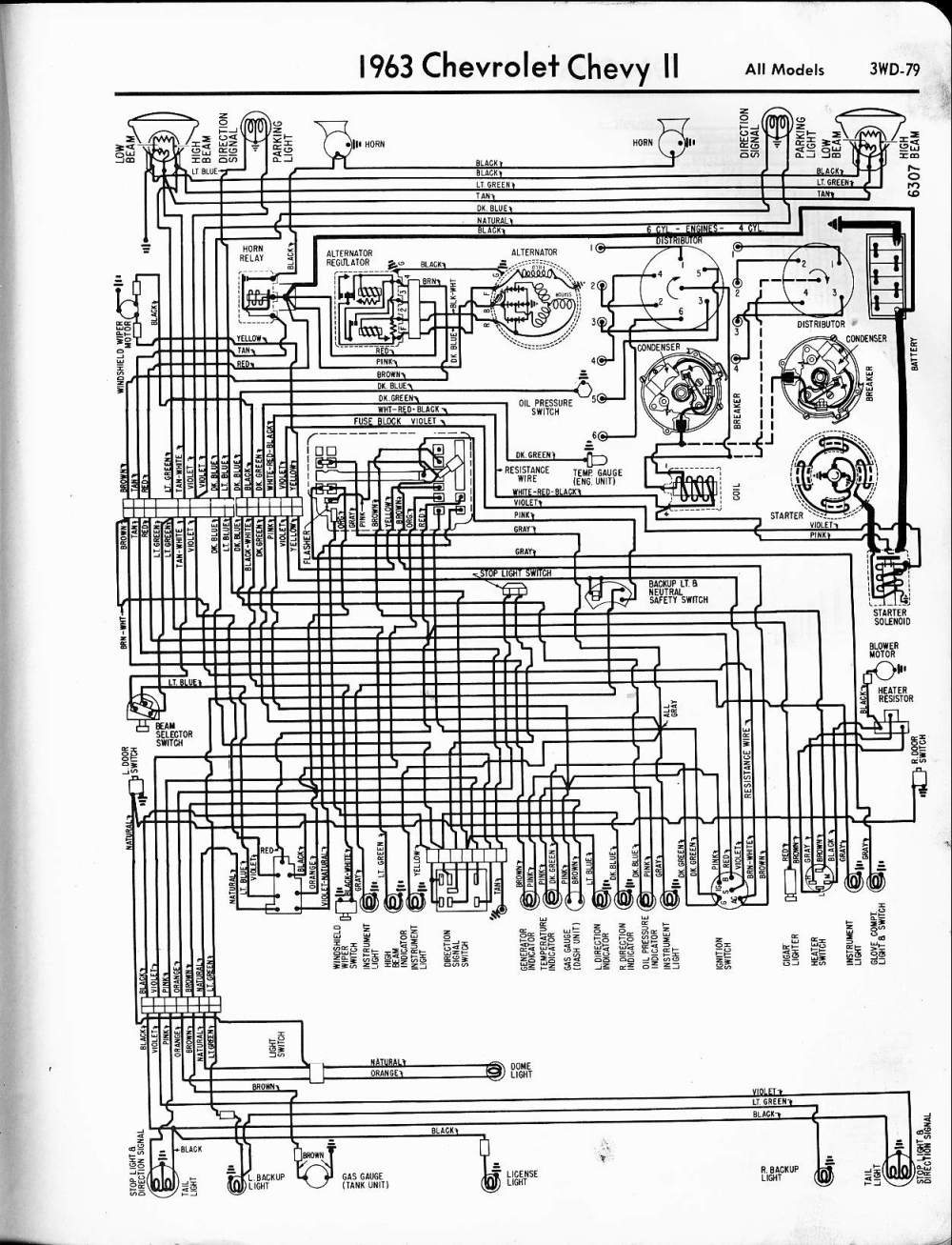 medium resolution of 57 65 chevy wiring diagrams 2009 chevrolet impala wiring diagram 1963 chevy ii all models