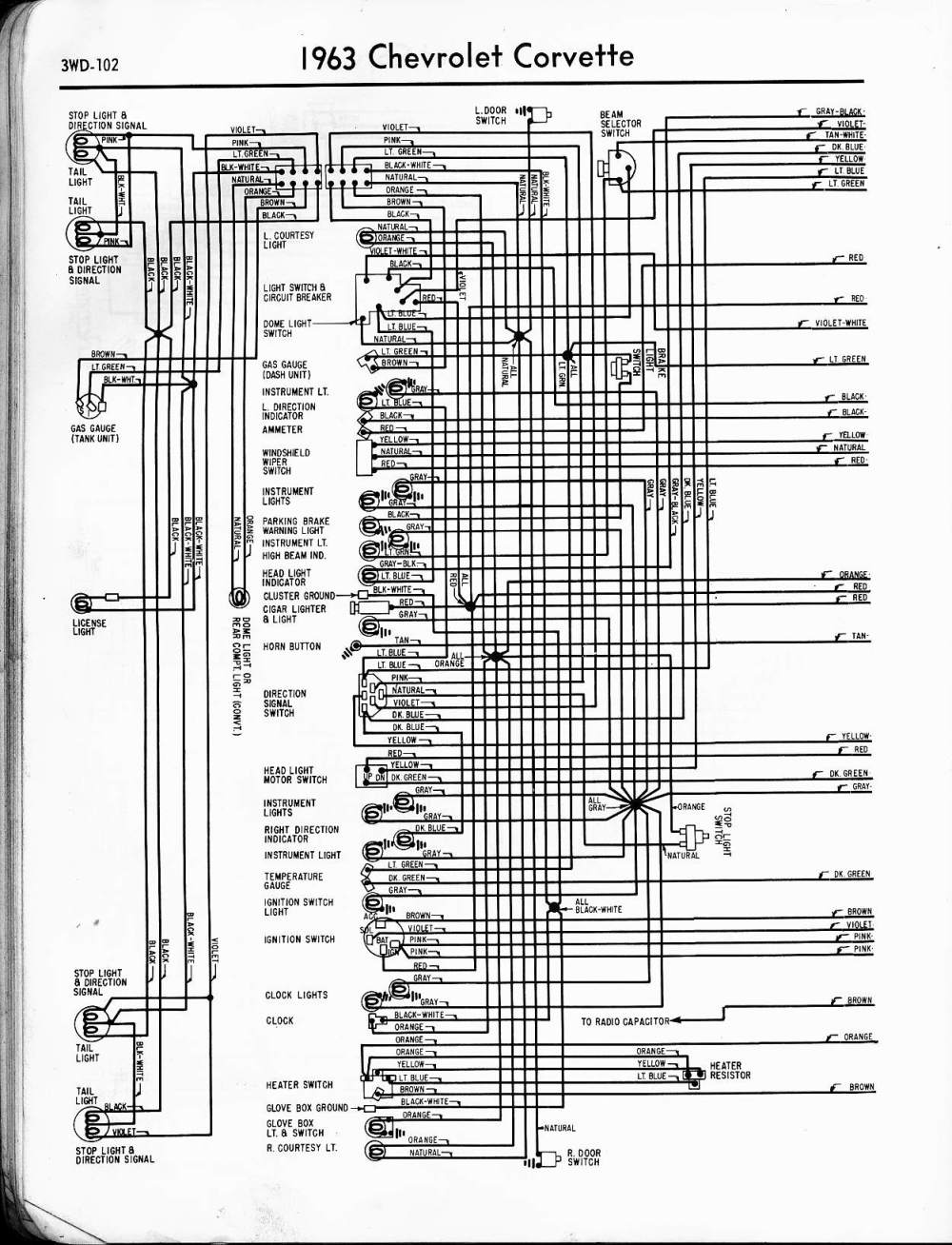 medium resolution of 57 65 chevy wiring diagrams rh oldcarmanualproject com 1964 chevy impala wiring diagram chevy impala wiring