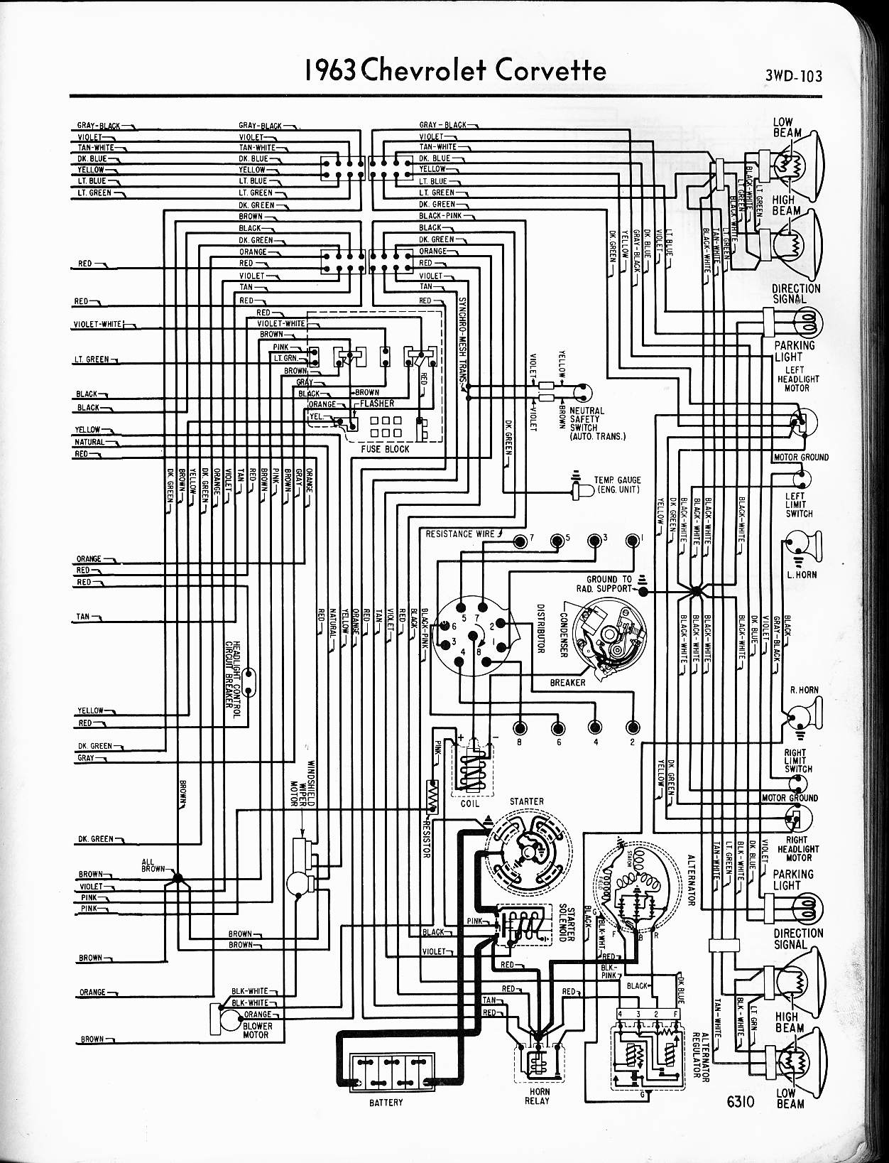 hight resolution of 57 65 chevy wiring diagrams rh oldcarmanualproject com 1965 corvette wiring harness diagram 1965 corvette wiring