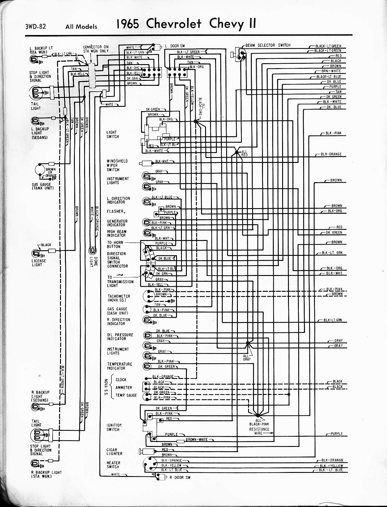 1964 chevy nova wiring diagram hyperstart dual battery kit 57 65 diagrams