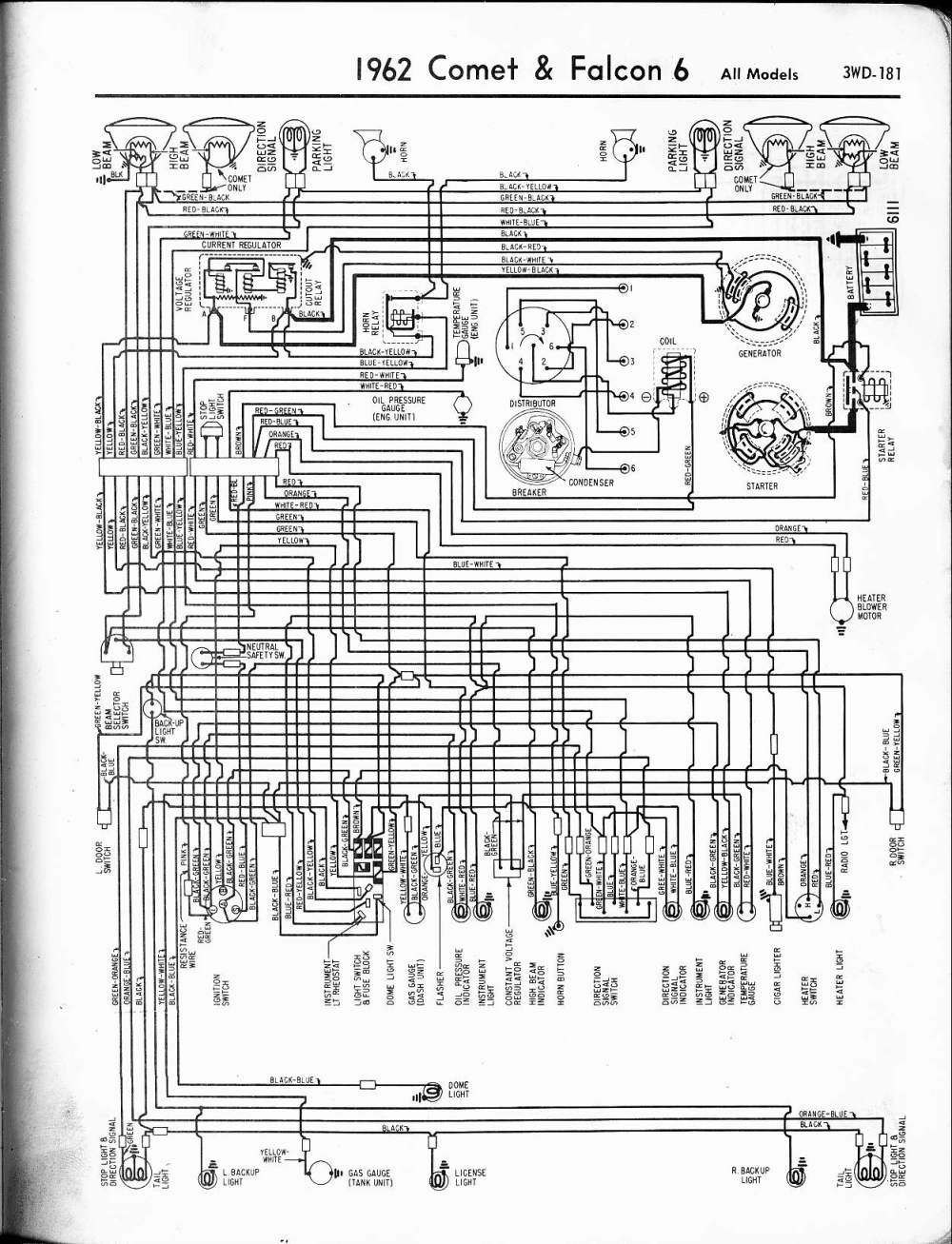 medium resolution of 1962 ford wiring diagram detailed wiring diagrams 1999 ford explorer fuse diagram 1999 ford au fuse