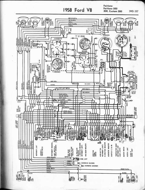 small resolution of 57 65 ford wiring diagrams ford alternator diagrams 1958 v8 fairlane 500 300