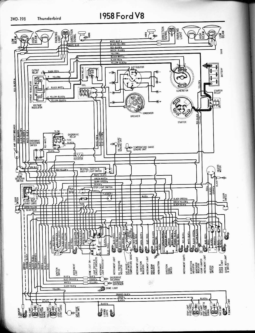 medium resolution of 1958 thunderbird 57 65 ford wiring diagrams 1958 thunderbird