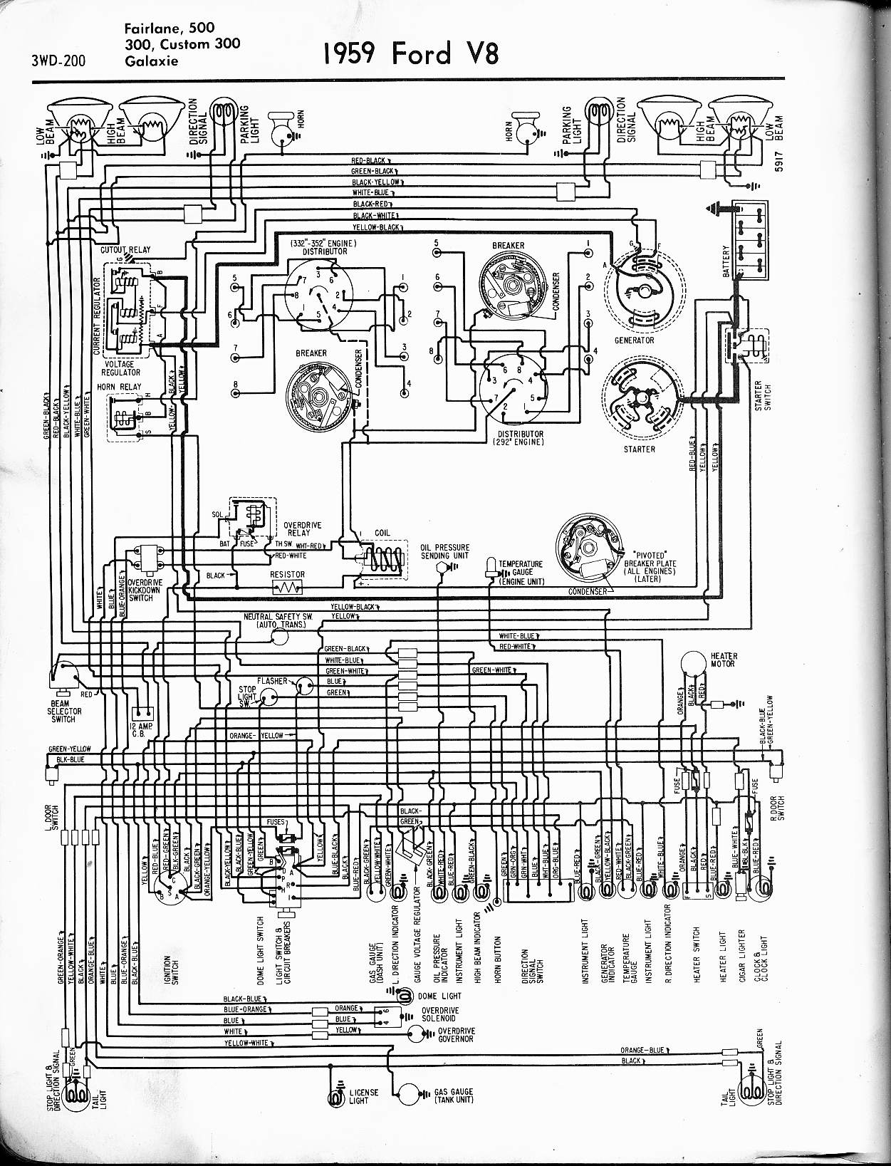 hight resolution of 57 65 ford wiring diagrams rh oldcarmanualproject com ford ikon electrical wiring diagram ford everest electrical