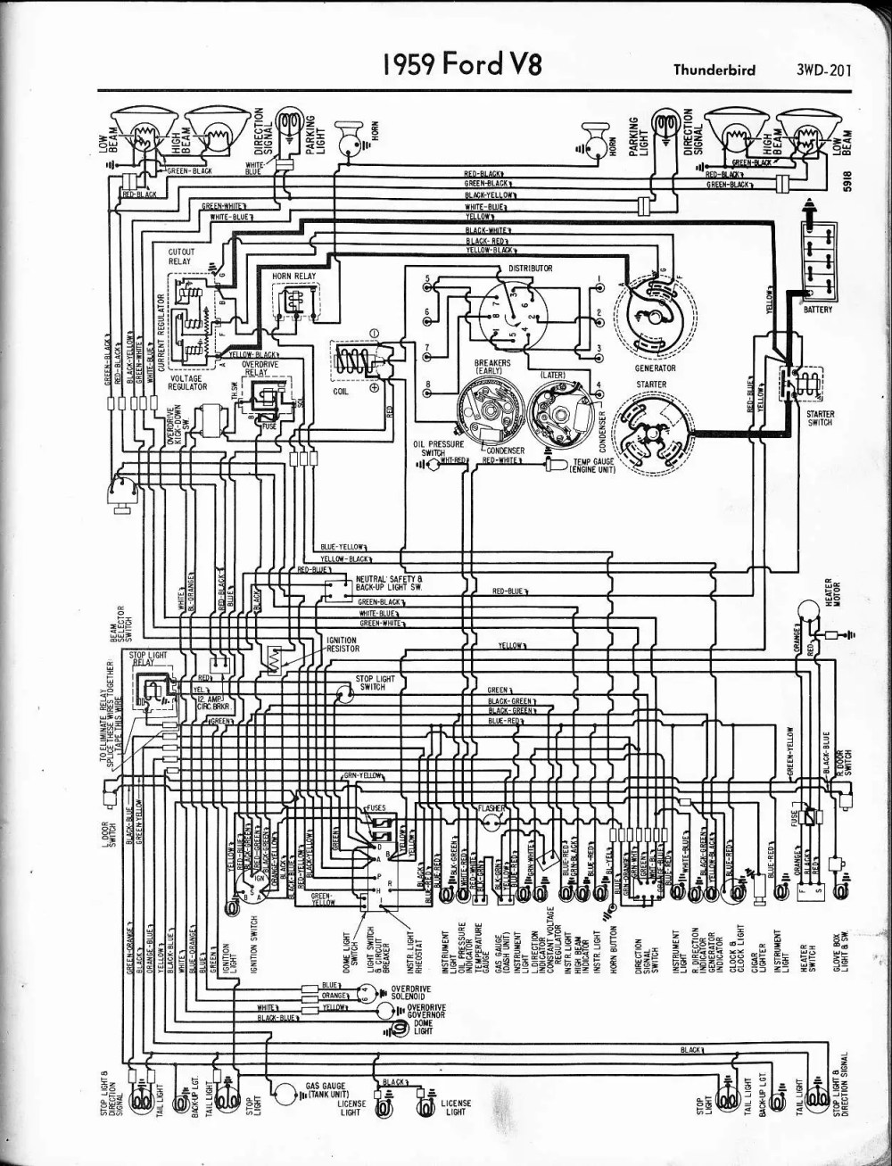 medium resolution of 1959 thunderbird 57 65 ford wiring diagrams 1959 thunderbird 302 v8 ford engine