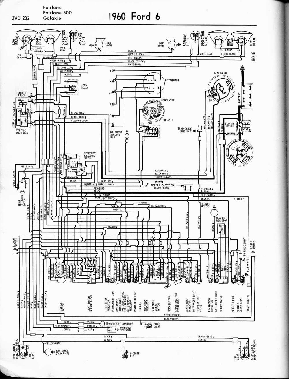 medium resolution of 57 65 ford wiring diagrams 1960 6 cyl fairlane 500 galaxie