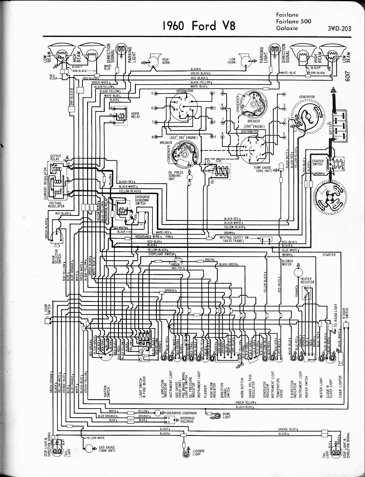 hight resolution of 57 65 ford wiring diagrams rh oldcarmanualproject com 1955 ford fairlane wiring diagram ford pinto