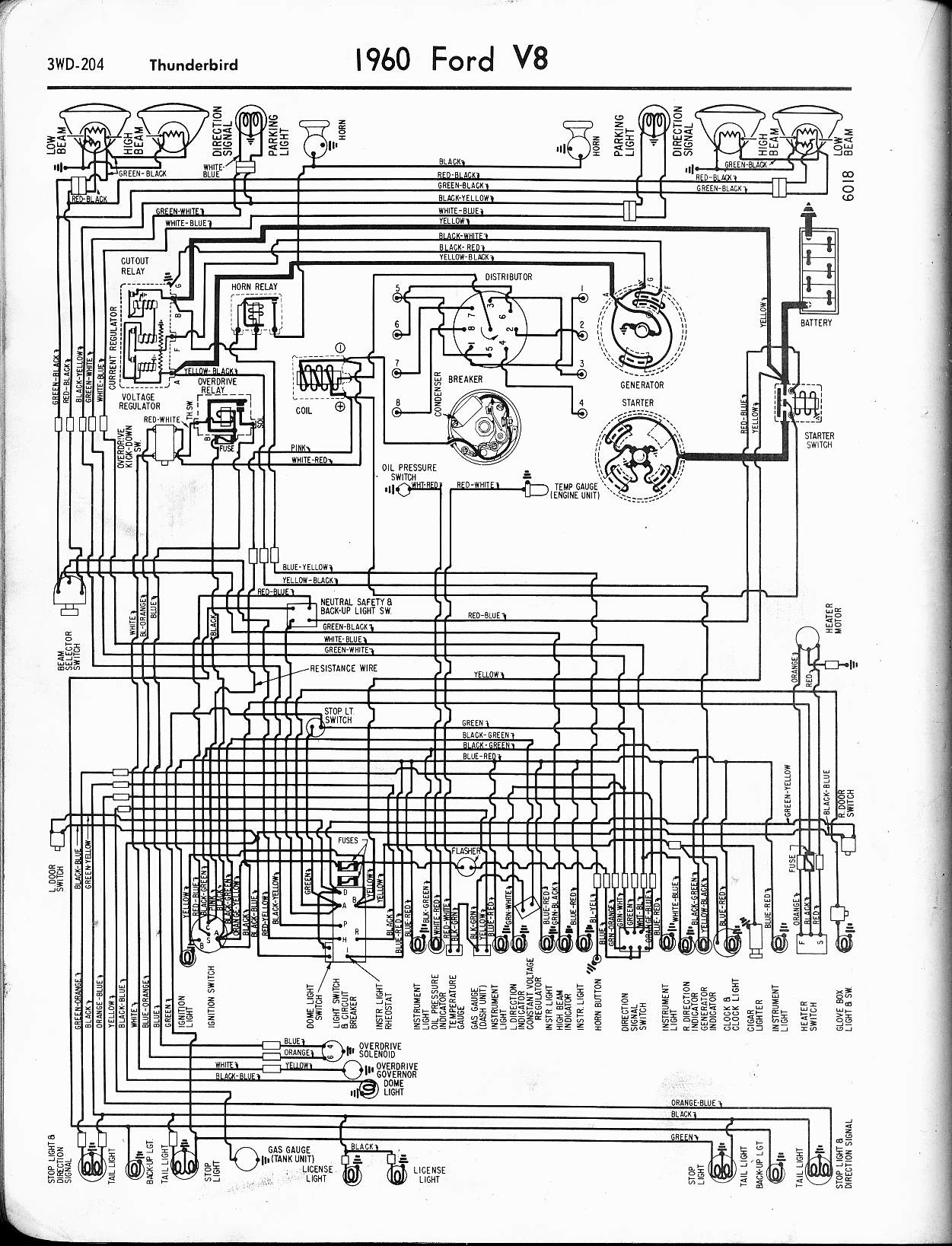 ford falcon eb radio wiring diagram volvo truck diagrams 57 65 1960 thunderbird