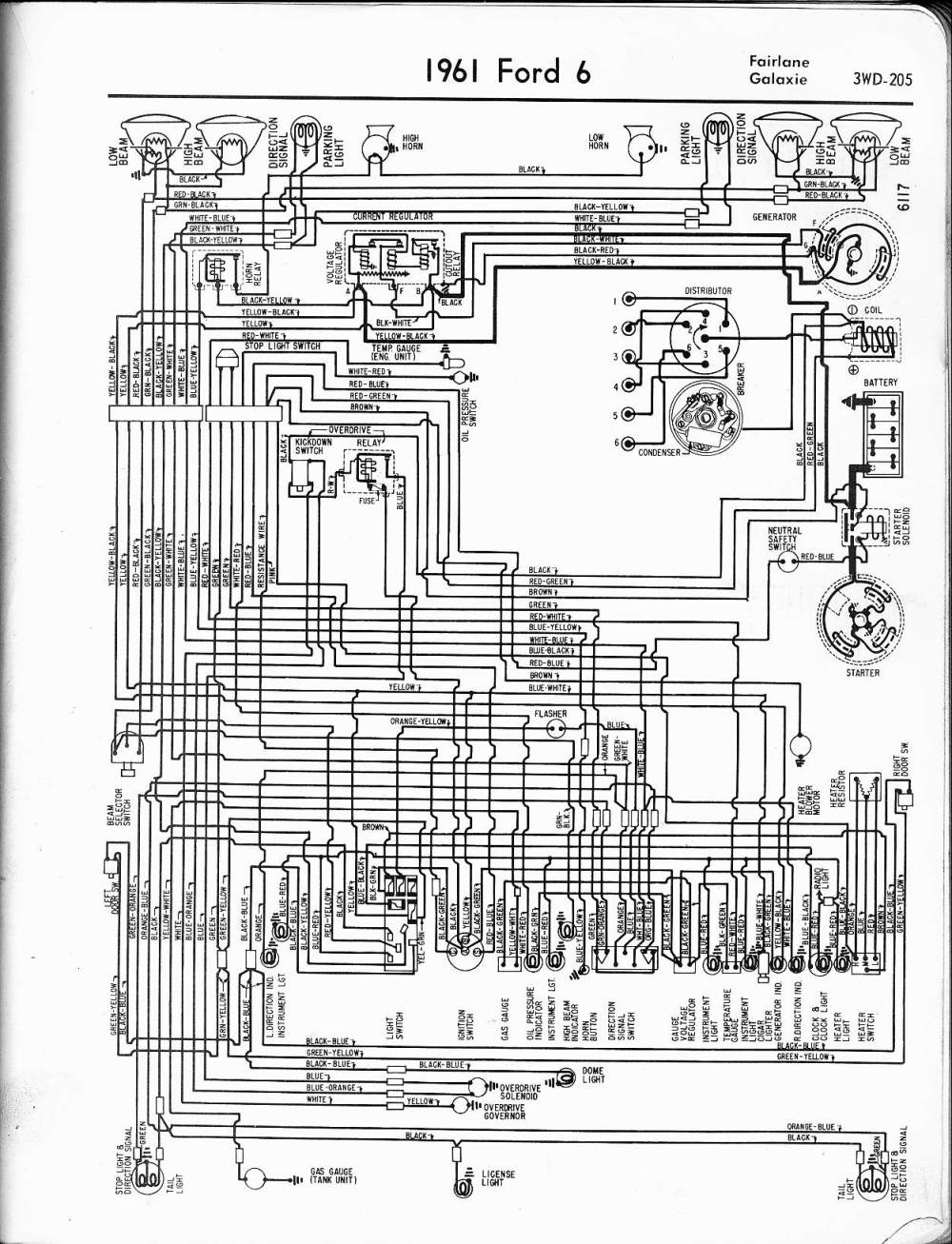 medium resolution of 57 65 ford wiring diagrams 1949 ford generator wiring 1961 6 cyl fairlane galaxie