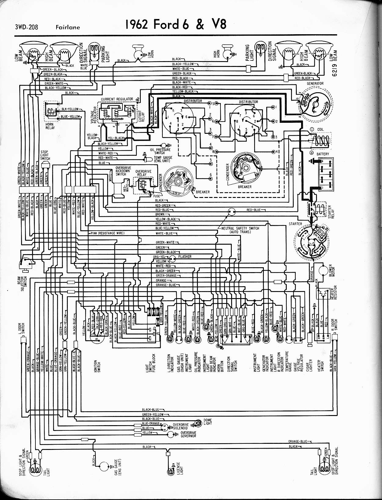 hight resolution of 57 65 ford wiring diagrams 1962 ford thunderbird wiring diagram