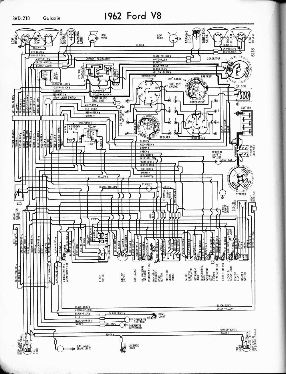 medium resolution of 1962 ford wiring diagram box wiring diagram ford 8n 6 volt wiring 62 ford generator wiring