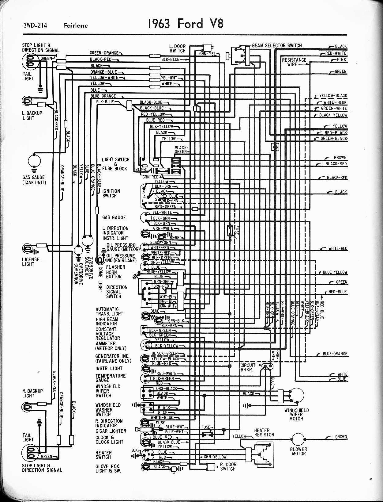 hight resolution of 57 65 ford wiring diagrams1963 v8 fairlane left