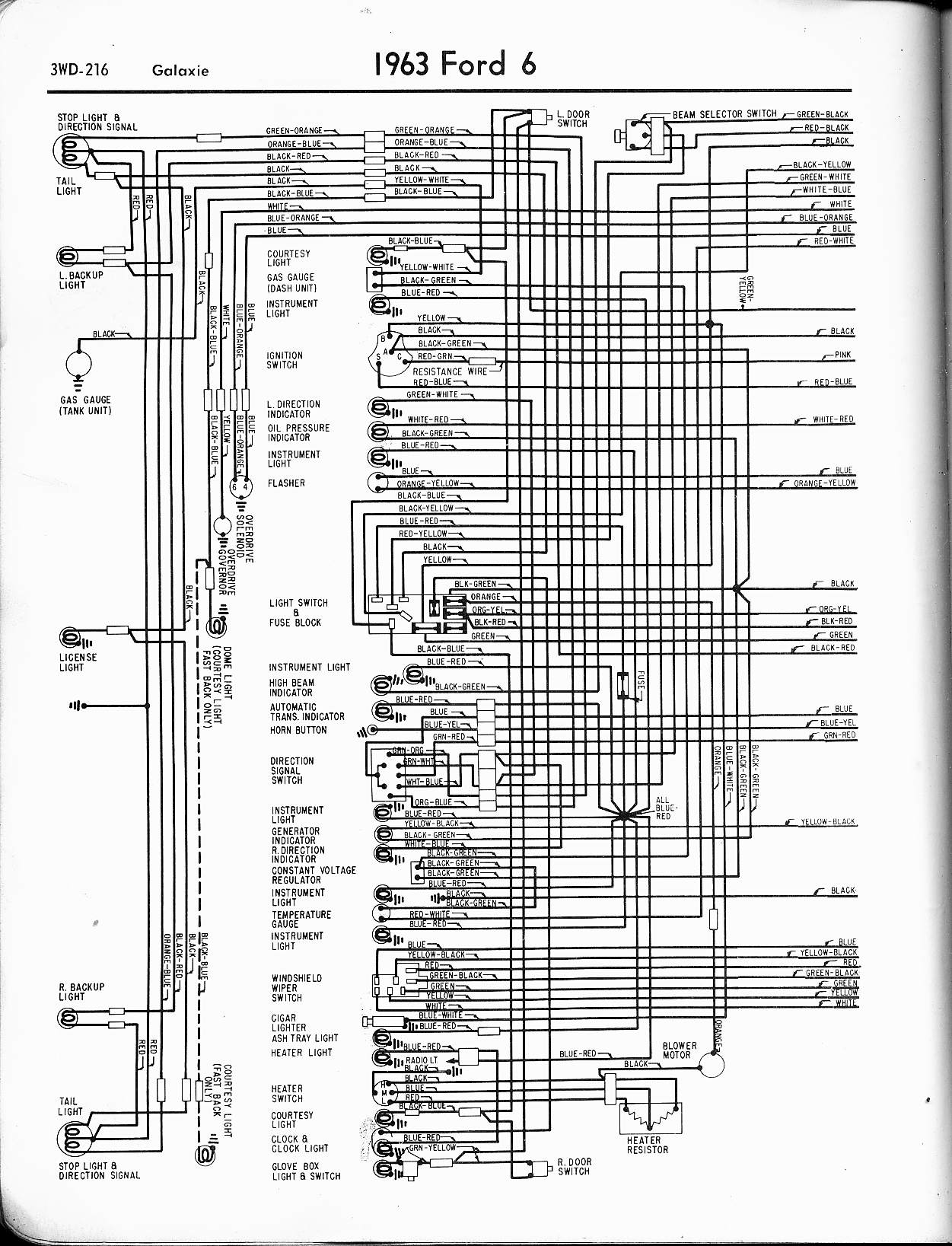 1964 Galaxie 500 Xl Wiring Diagram