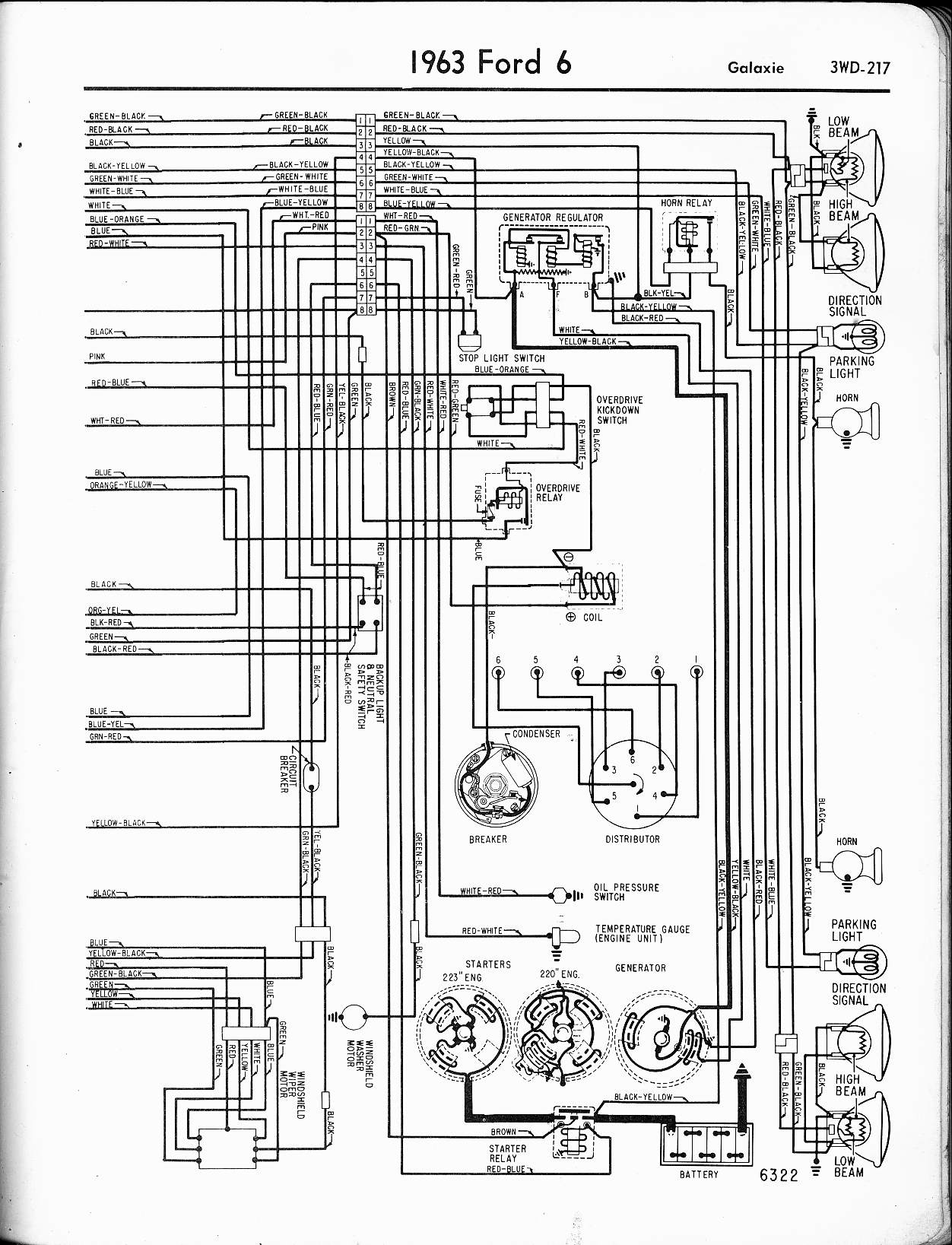 [WRG-8679] 1964 Galaxie Wiring Diagram