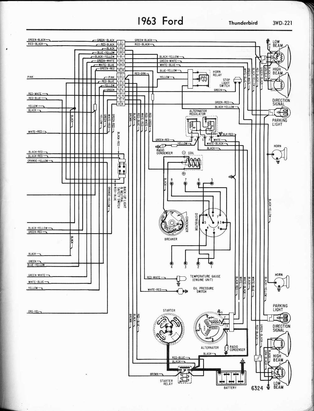 medium resolution of 1965 ford thunderbird alternator wiring diagram wiring diagram blog 56 t bird and santa 56 t bird wiring