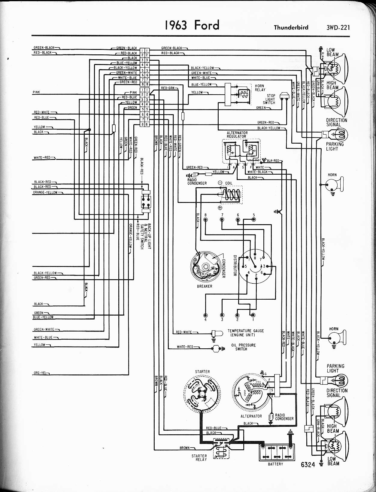 hight resolution of 1965 ford thunderbird alternator wiring diagram wiring diagram blog 56 t bird and santa 56 t bird wiring
