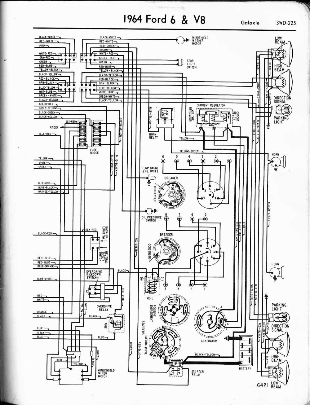 medium resolution of 57 65 ford wiring diagrams 1965 galaxie wiring diagrams
