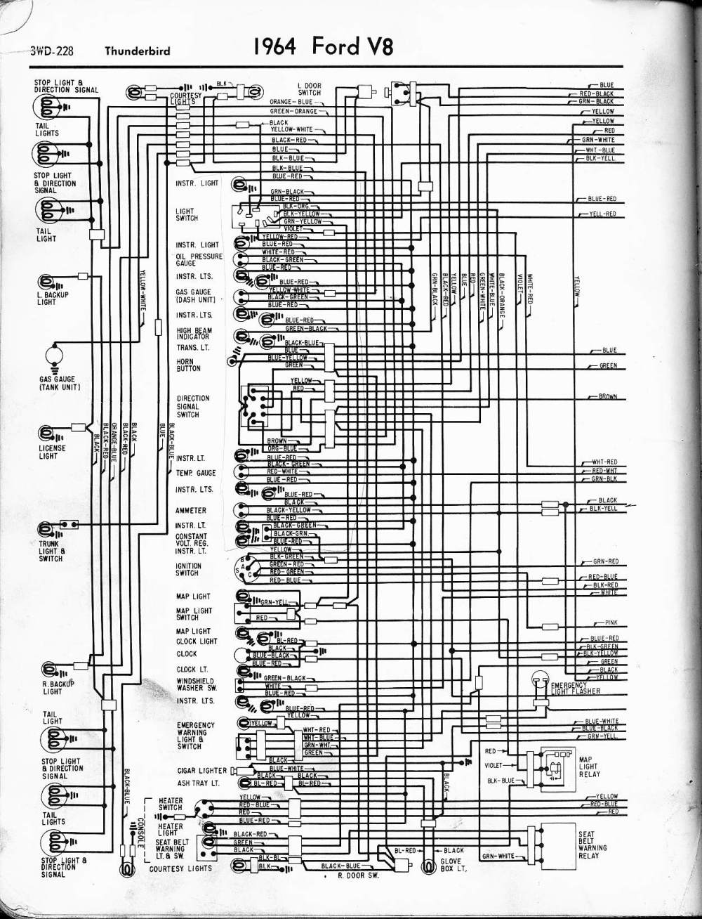 medium resolution of 1964 thunderbird wiring diagram wiring diagram structure 1964 thunderbird stereo wiring diagram