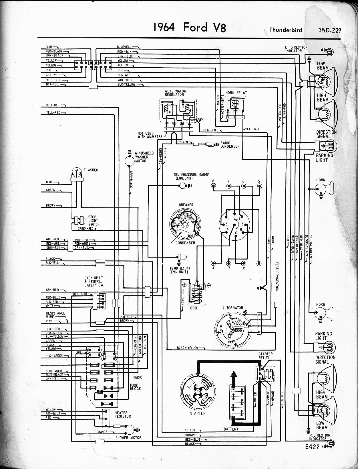 hight resolution of 57 65 ford wiring diagrams1964 ford t bird wiring diagram 1