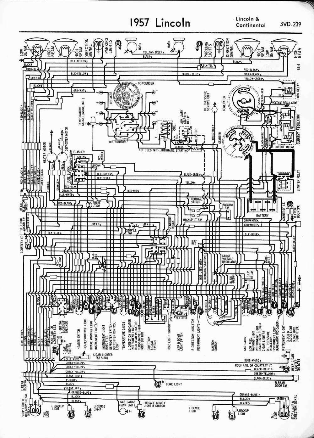 medium resolution of lincoln wiring diagrams 1957 1965 rh oldcarmanualproject com 2004 lincoln navigator wiring diagram electrical wiring