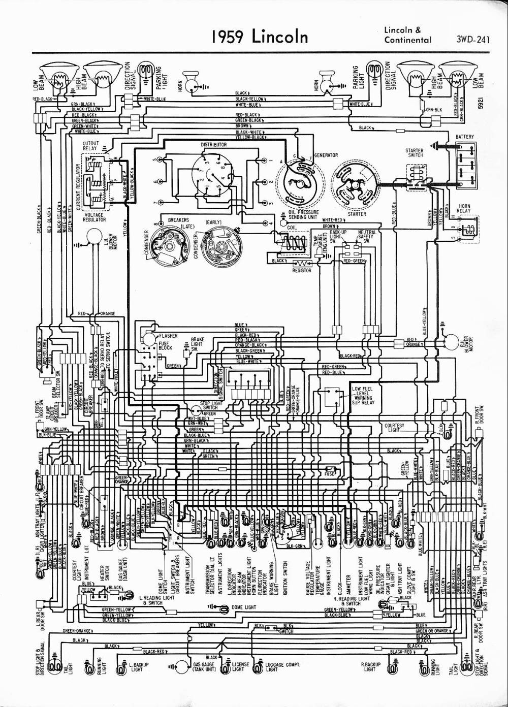 medium resolution of 1959 lincoln continental lincoln wiring diagrams