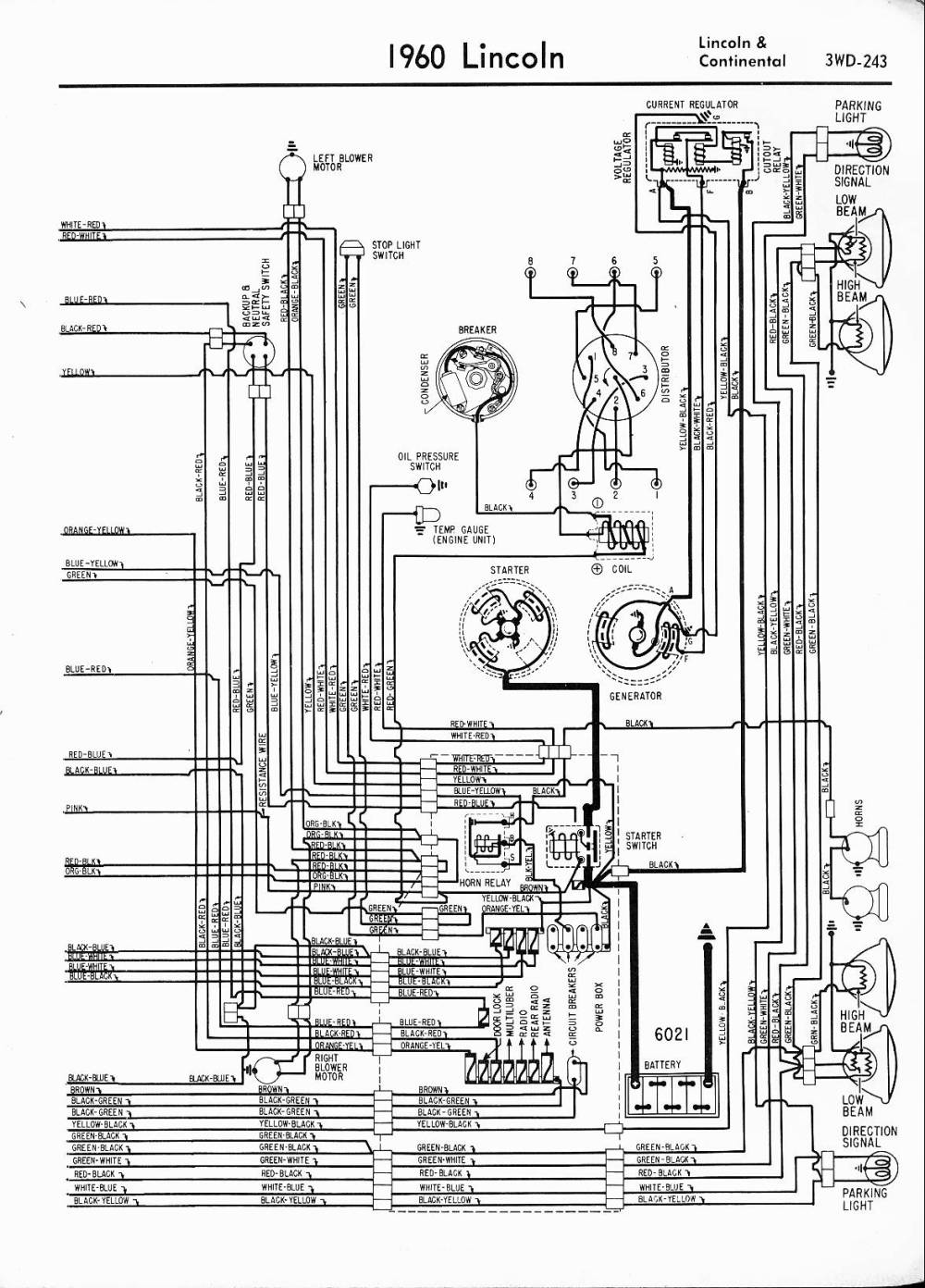 medium resolution of 1960 lincoln lincoln continental right half lincoln wiring diagrams