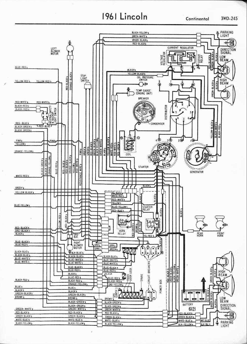 medium resolution of lincoln wiring diagrams 1957 1965 images of 1961 lincoln continental wiring diagram