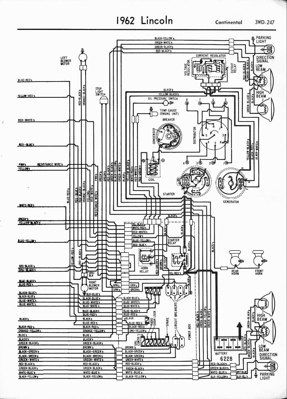 medium resolution of lincoln wiring diagrams 1957 1965 1962 lincoln left half