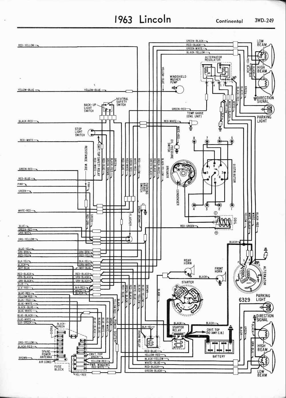 medium resolution of 1963 lincoln right half lincoln wiring diagrams 1957 1965 1963 lincoln right half 1996 lincoln continental power window